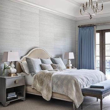 Dark Gray Upholstered Bed Design Ideas