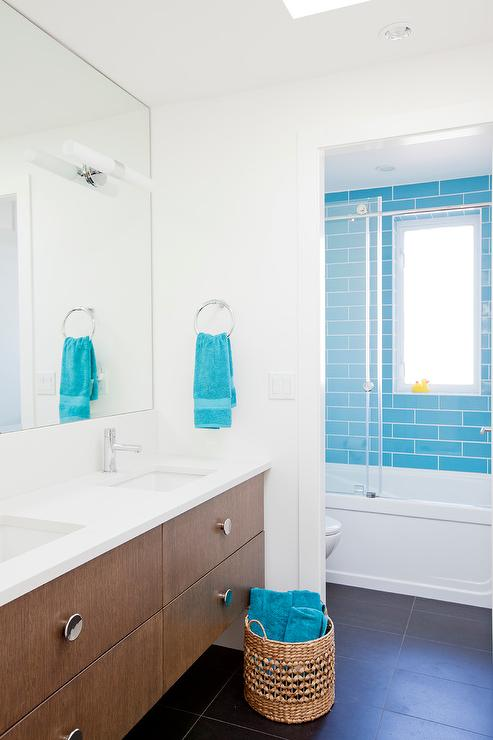 Blue Towels For Bathroom Small: Shower With Frosted Glass Barn Door
