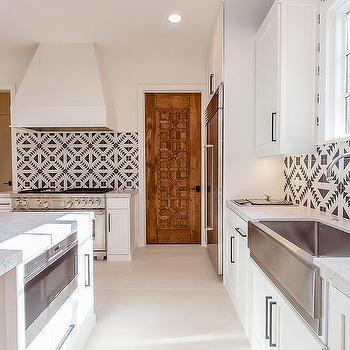 Blue Mediterranean Kitchen Tiles Design Ideas