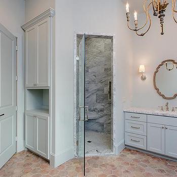Bathroom Hexagon Terracotta Floor Tiles Design Ideas