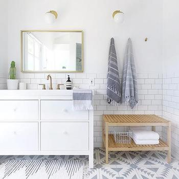 White Ikea Bathroom Vanity Design Ideas