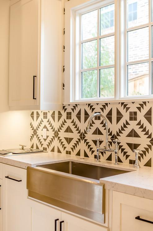 Cement tile kismet tuxedo 2 pattern for cement tile for Cement tiles for kitchen