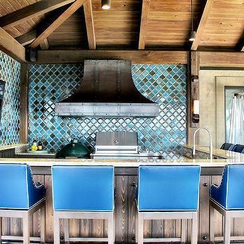 M Mediterranean Style Outdoor Kitchen