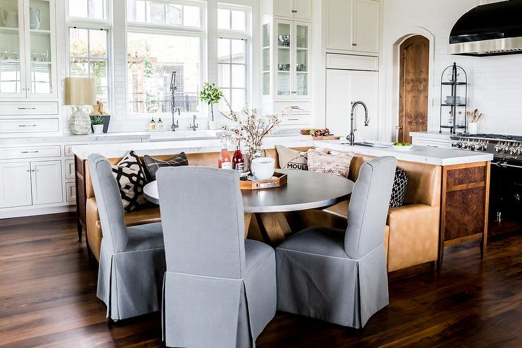 Kitchen Island With Booth Seating l shaped banquette design ideas