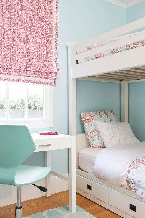 pink and blue girl bedroom with white bunk beds 1000 ideas about blue girls bedrooms on pinterest girls