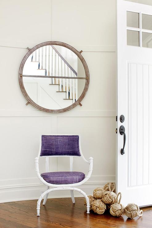 Foyer With Chair : Foyer with purple chair and rope knot door stopper