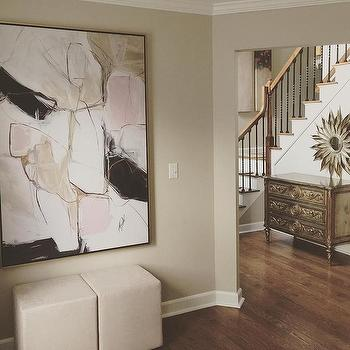 blush pink abstract art design ideas