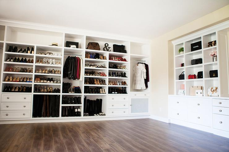 Walk In Closet Nook With Built Bag Shelves View Full Size
