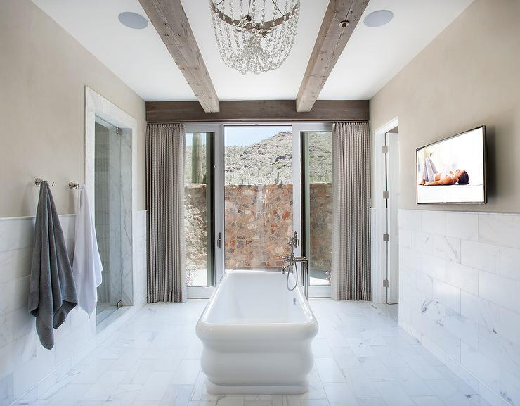 Waterworks Empire Freestanding Bathtub In Middle Of