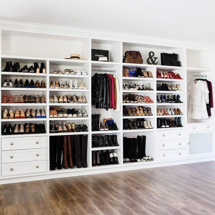 926088ce8d3 Closet with Built In Boot Shelves - Transitional - Closet