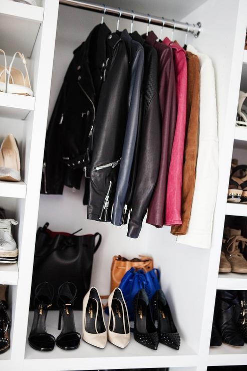 Closet With Leather Coats Storage
