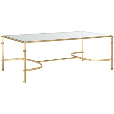Worlds Away Gold Leaf Sabre Coffee Table Look For Less