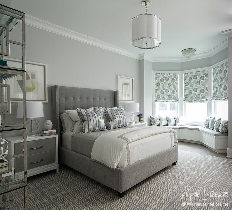 White and Grey Bedrooms - Transitional - bedroom - Kelly Nutt Design