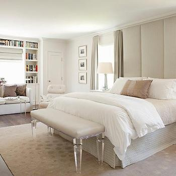 Floor to ceiling headboard contemporary bedroom - Floor to ceiling headboard ...