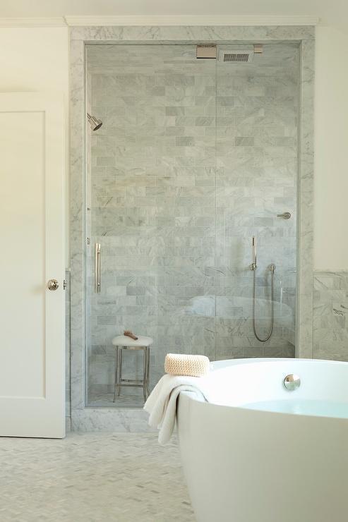 Restoration Hardware Newbury Bath Stool In Shower