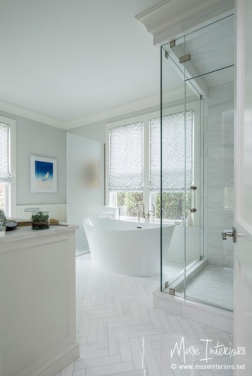 Frosted Glass Water Room Partition