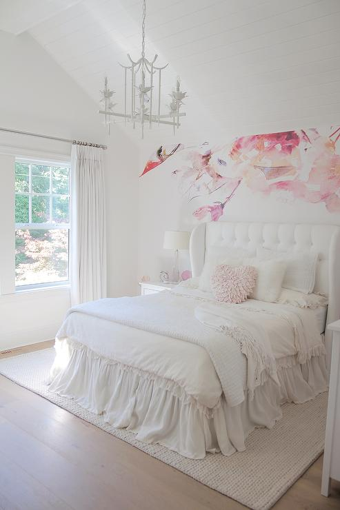 traditional girl 39 s room benjamin moore simply white