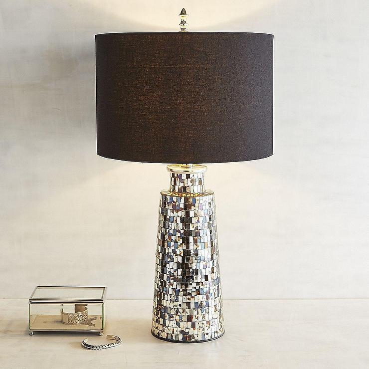 Amber Bronze Mosaic Table Lamp