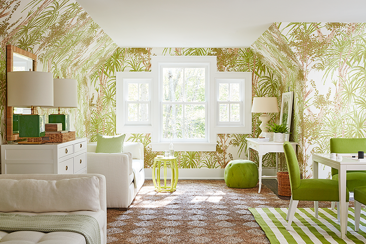 Green attic family room transitional media room green attic family room aloadofball Gallery