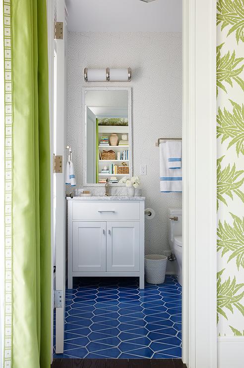 Faux Bois Wallpaper silver faux bois wallpaper - transitional - bathroom