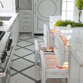 White And Gray Marble Diamond Pattern Floor Tiles Design Ideas