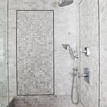 Brick shaped bathroom tiles