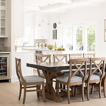 Salvaged Wood X Base Dining Table Design Ideas