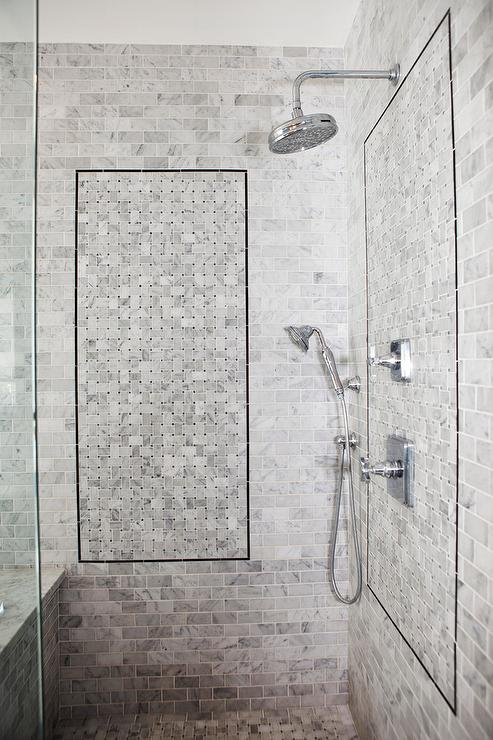 Nice Gray Marble Mini Brick Shower Tiles