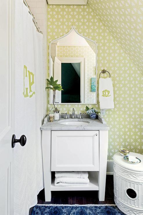 White and blue contemporary bathroom with dark blue for Dark green bathroom accessories