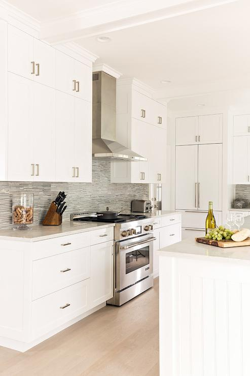 White Kitchen Cabinets With Blond Wood Floors