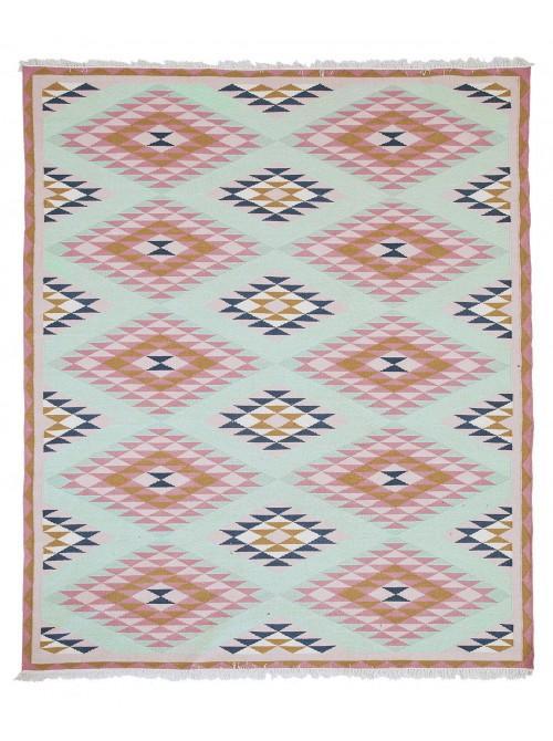 and Pink Navajo Geometric Rug