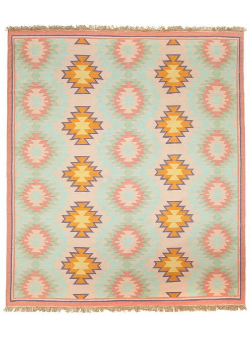 Famous Pink and Yellow Tribal Pattern Rug JB68