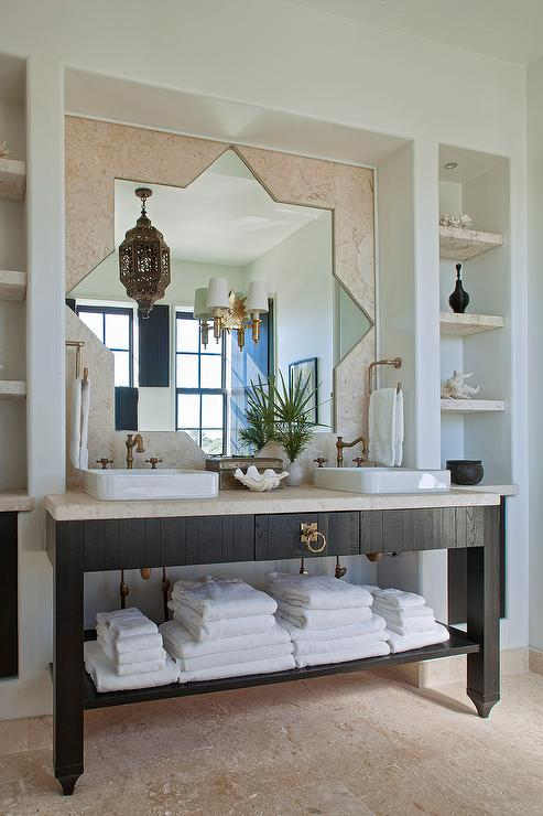 Moroccan Bathroom Mediterranean Bathroom Gordon