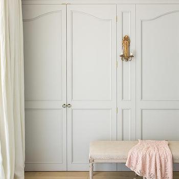 Beau Pale Gray Closet Doors