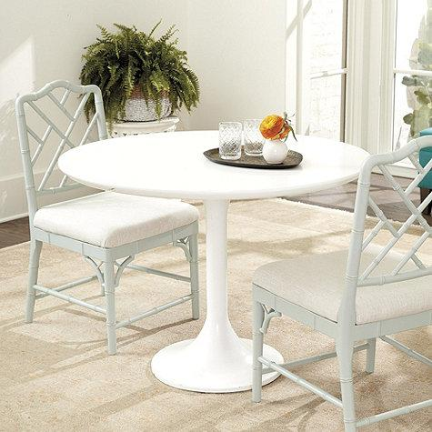 White Top And Black Base Square Pedestal Table - White pedestal table with leaf