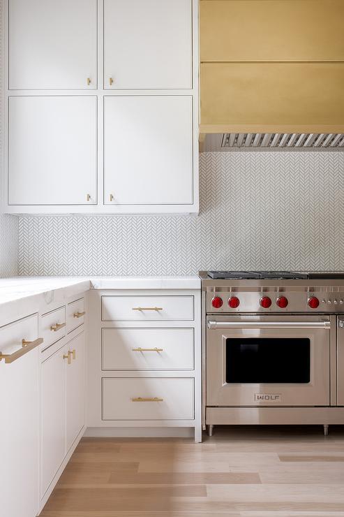 Gold Kitchen Hood Contemporary Kitchen Matthew