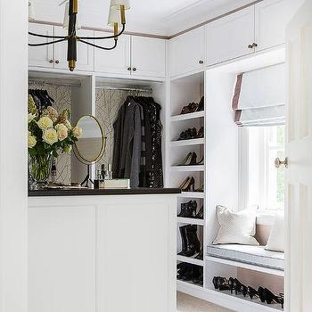 attic closet with sloped ceiling cottage closet. Black Bedroom Furniture Sets. Home Design Ideas