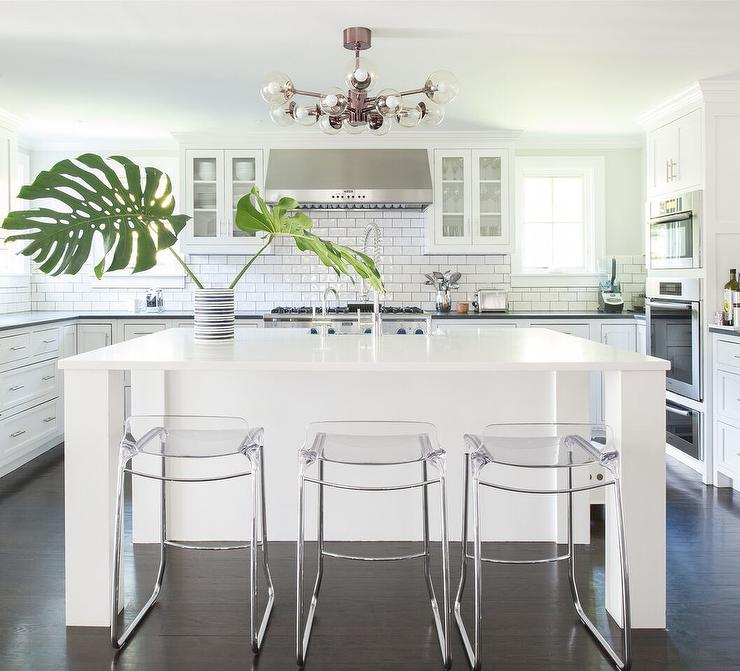 Modern White Kitchen Cabinets Photos: White And Clear Modern Kitchen Cabinets Design Ideas