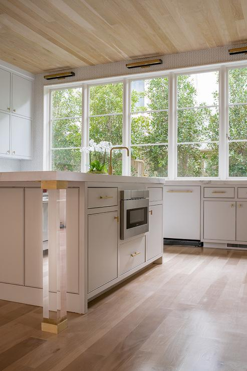 Gray Kitchen With Blanco Cerano Sink And Brizo Artesso