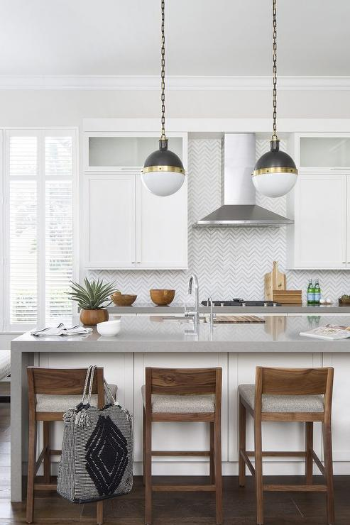 Light Gray Kitchen Cabinets Contemporary Kitchen