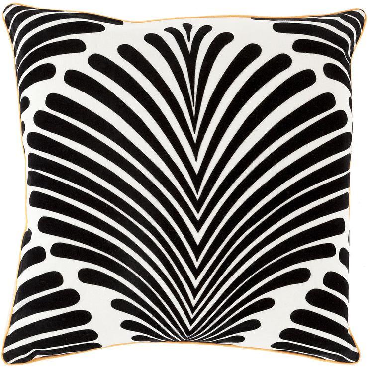black lines border white pillow. Black Bedroom Furniture Sets. Home Design Ideas