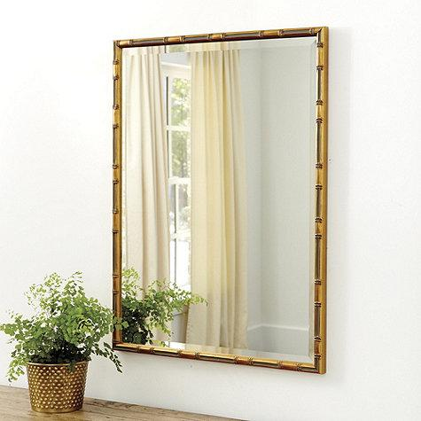 Gold Bamboo Rectangle Mirror