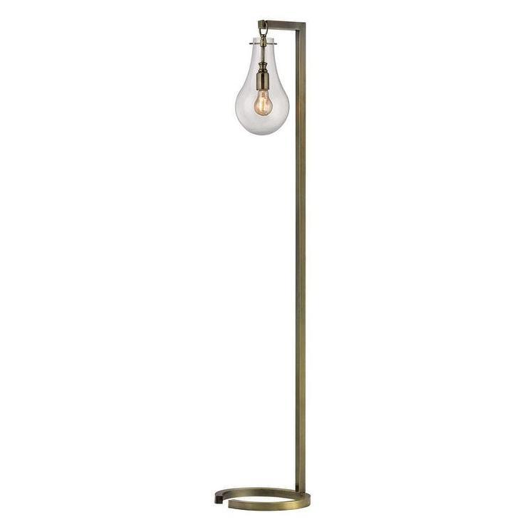 Industrial brass teardrop glass floor lamp aloadofball Images