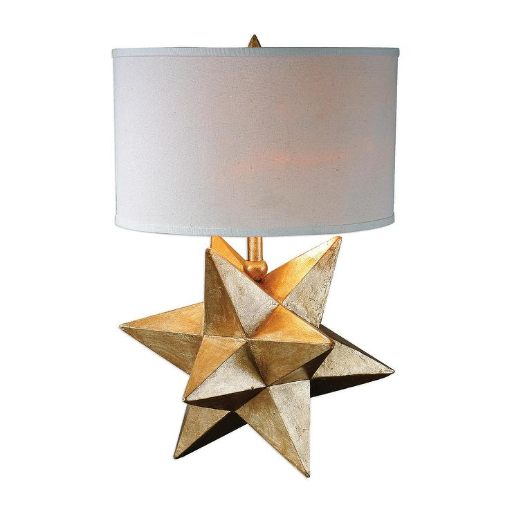 Gold geometric star base table lamp aloadofball Images