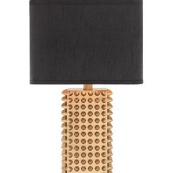 Gold Studded Base Table Lamp