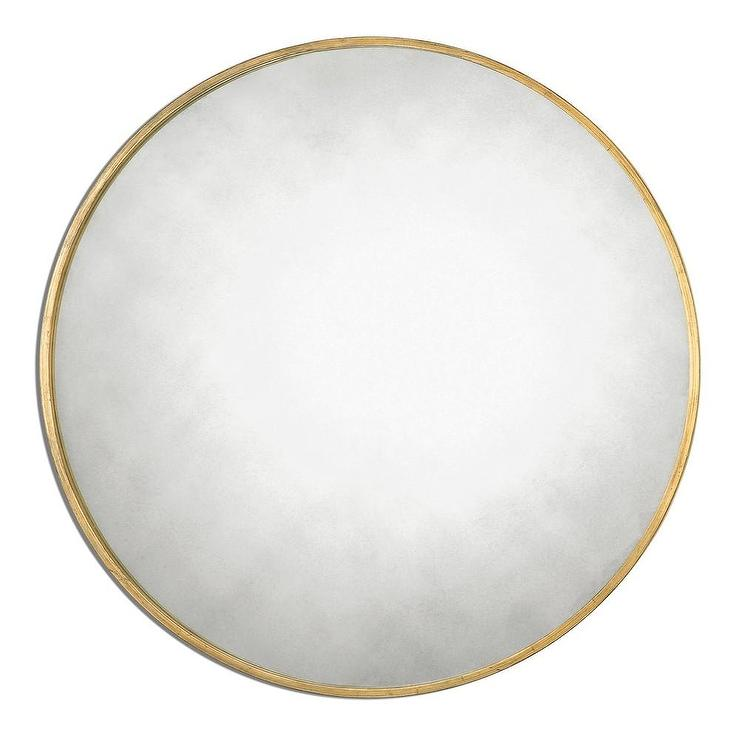 Well-liked Antique Gold Leaf Round Mirror GM83