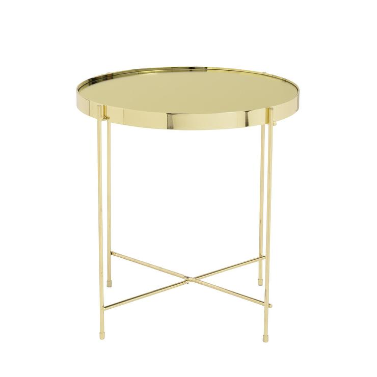 White drawers gold legs side table for Round gold side table