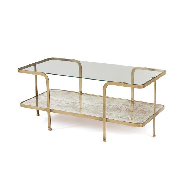 Antique Gold Coffee Table: Gold Frame Antique Mirror Coffee Table