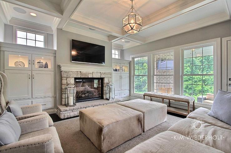 Transitional   Living Room   Sherwin Williams Light French Gray