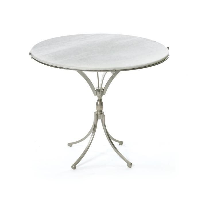 White Round Marble Curved Legs Table - Round marble cafe table